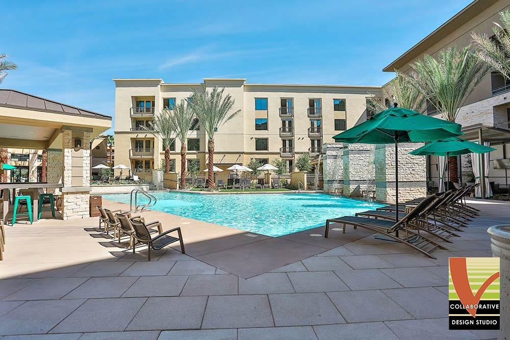 Pool Umbrellas at Broadstone Sixteen 75 in Phoenix