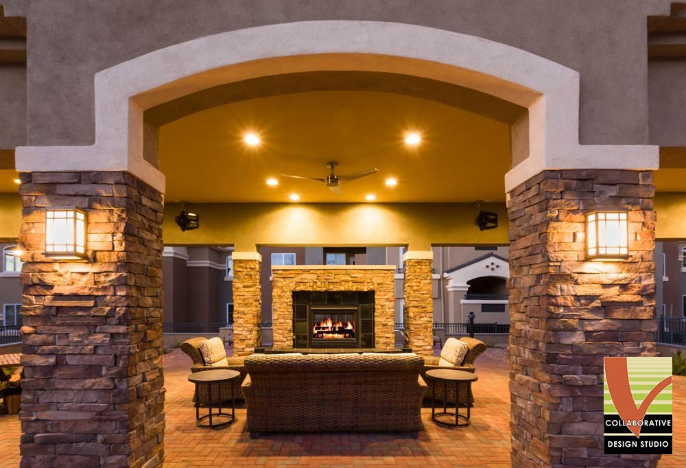 Broadstone Santa Monica in New Mexico, Fireplace Outdoor Hardscape Design