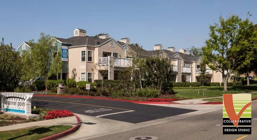 Multifamily Entrance Design, Long Beach California