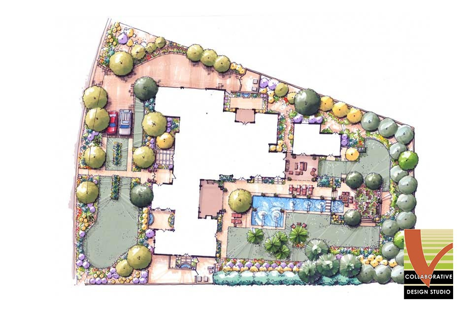 Professional Landscape Plan for Irregular Lot Shape