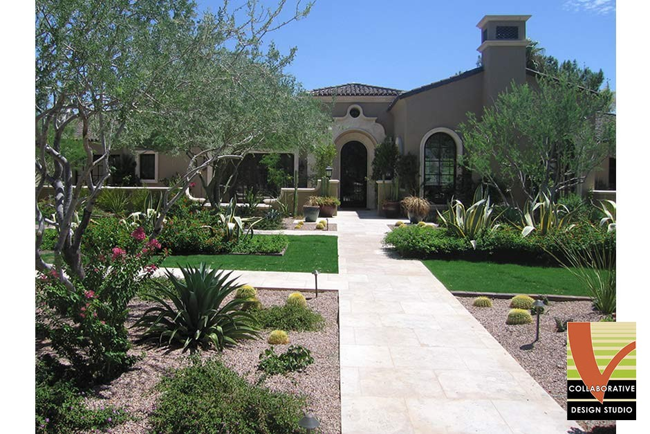 Luxury Landscape with Southwest Plant Palette, Xeriscape