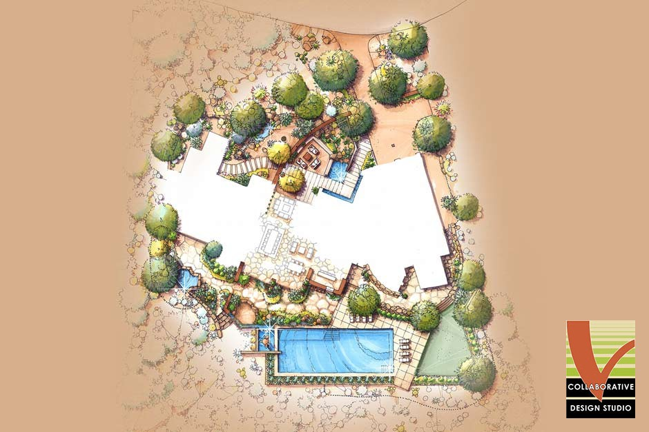 Birds Eye Residential Landscape Plan