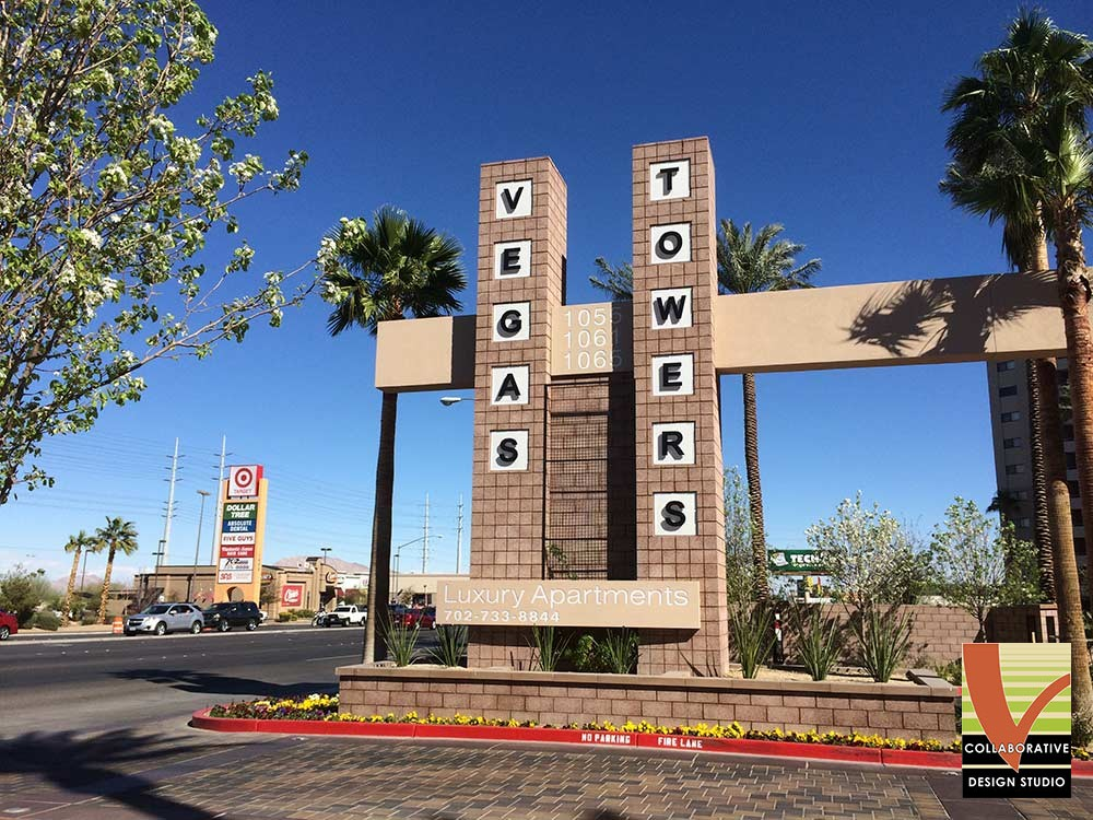Vegas Towers Monument Sign