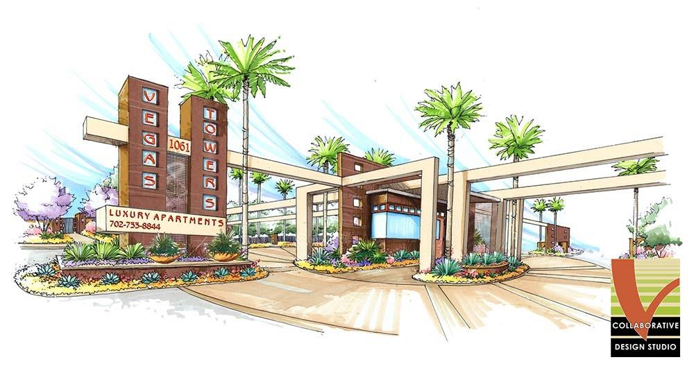 Las Vegas, Vegas Towers Entrance Plan